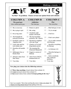 Page 2 from writing a screenplay handout