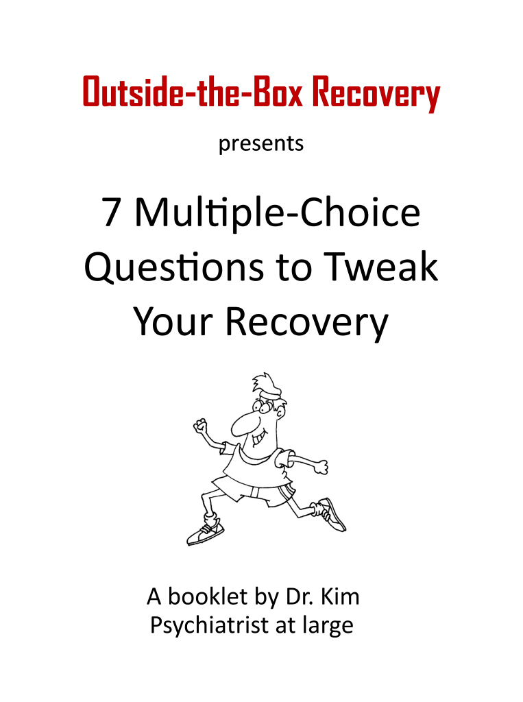"""Cover to booklet """"7 multiple-choice questions to tweak your recovery"""""""