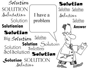 cartoon featuring a problem with lots of solutions