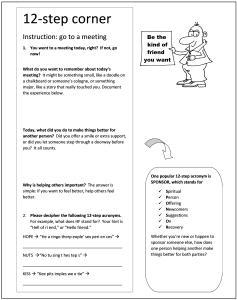 sample worksheet from 14 meetings in 14 days