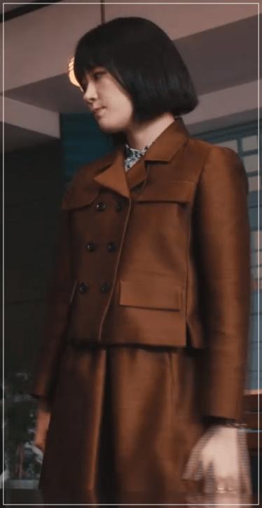 QUEEN[5話]水川あさみの服!スーツにネックレス!ブシュロンも