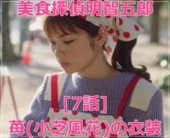 美食探偵明智五郎の苺(小芝風花)[7話]衣装!ブルゾンやジャケットやバッグ