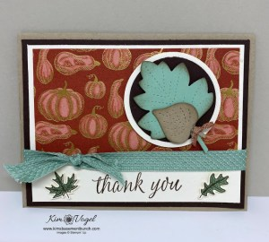 Another Great Fall Themed Card using the Love of Leaves Dies and the Beautiful Autumn Bundle