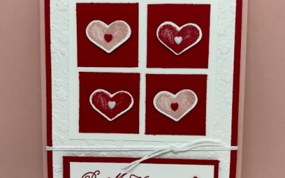 Hearts and Kisses Valentine's Day Card