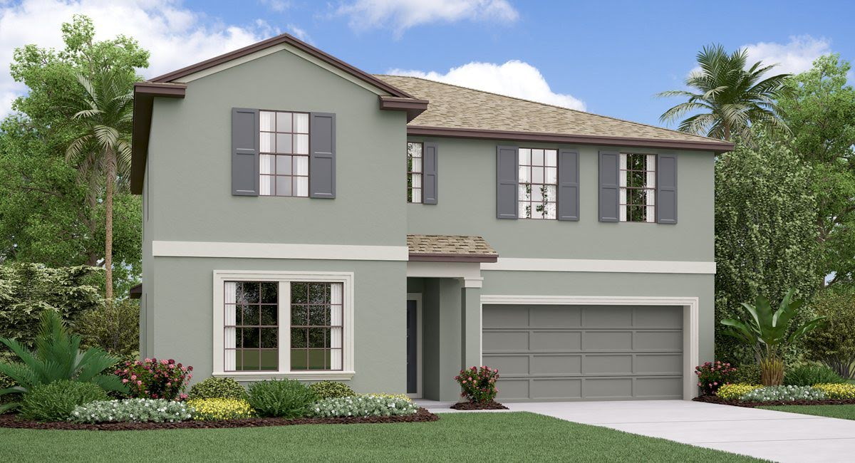 The Trenton Model Tour Epperson Manor Lennar Homes Wesley Chapel Florida