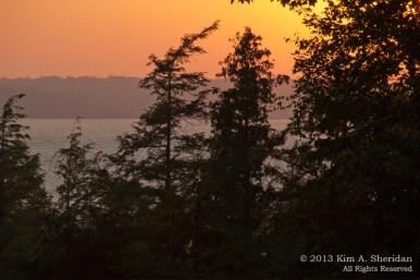 Sunset at Hamlin Lake, Michigan