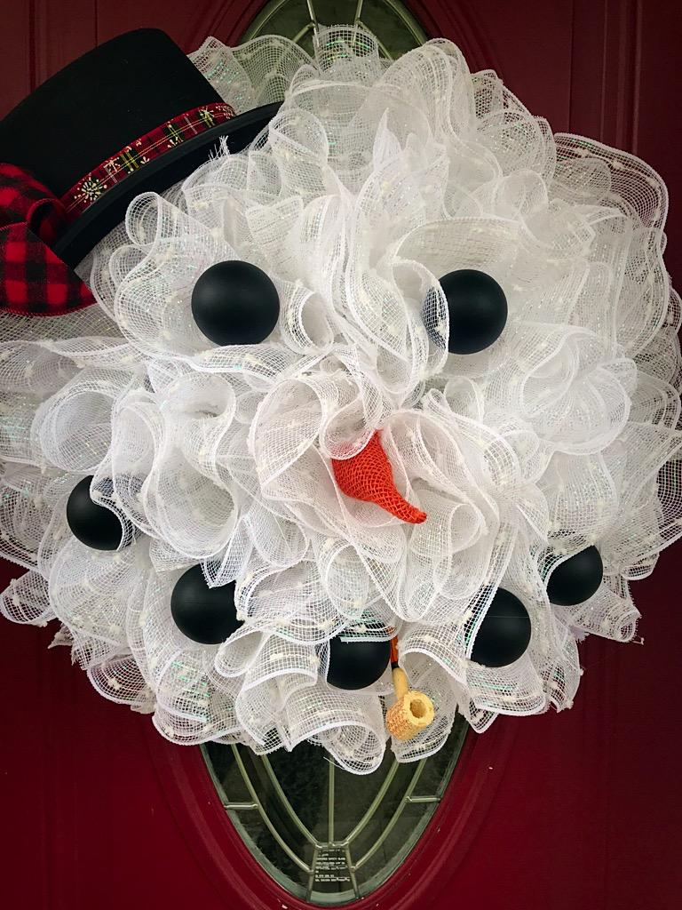 Snowman Wreath Winter Wreath Winter Snowman Wreath