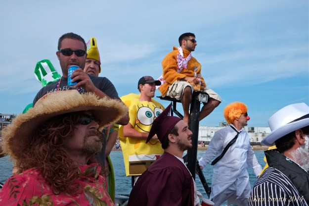 Saint Peter's Fiesta Greasy Pole Gloucester harbor©Kim Smith 2014 -3