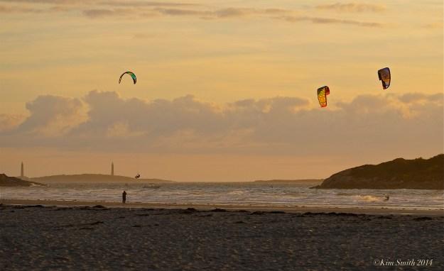 Kitesurfing Kiteboarding Good Harbor Beach Gloucester -4 ©Kim Smith 2014 J.PG