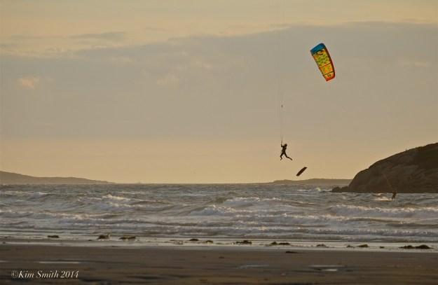 Kitesurfing Kiteboarding Good Harbor Beach Gloucester ©Kim Smith 2014