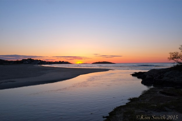 Twin Lights from Good Harbor Beach Sunrise ©Kim Smith 2015