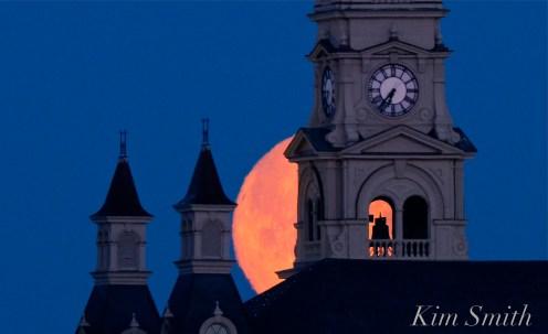 Super Moon Full Worm Moon Gloucester City Hall -7 copyright Kim Smith