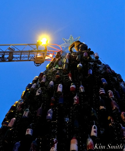 David Brooks Lobster Trap Tree Lighting Gloucester MA 2019 copyright Kim Smith - 19