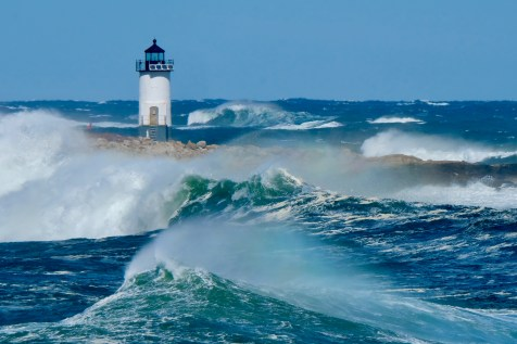 Straitsmouth Island Light Rockport Waves Atlantic Coast Storm copyright Kim Smith - 17 of 37