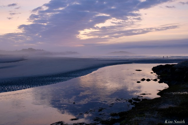 Good Harbor Beach foggy violet light sunrise copyright Kim Smithjpeg