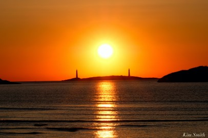 Thacher Island Twin Lights Lighthouses Sunrise copyright Kim Smith - 2 of 5