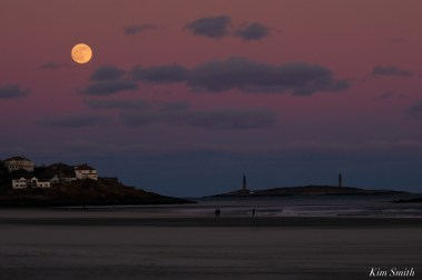 December Full Wolf Moon Good Harbor Thacher Island Gloucester Essex County copyright Kim Smith - 1 of 1