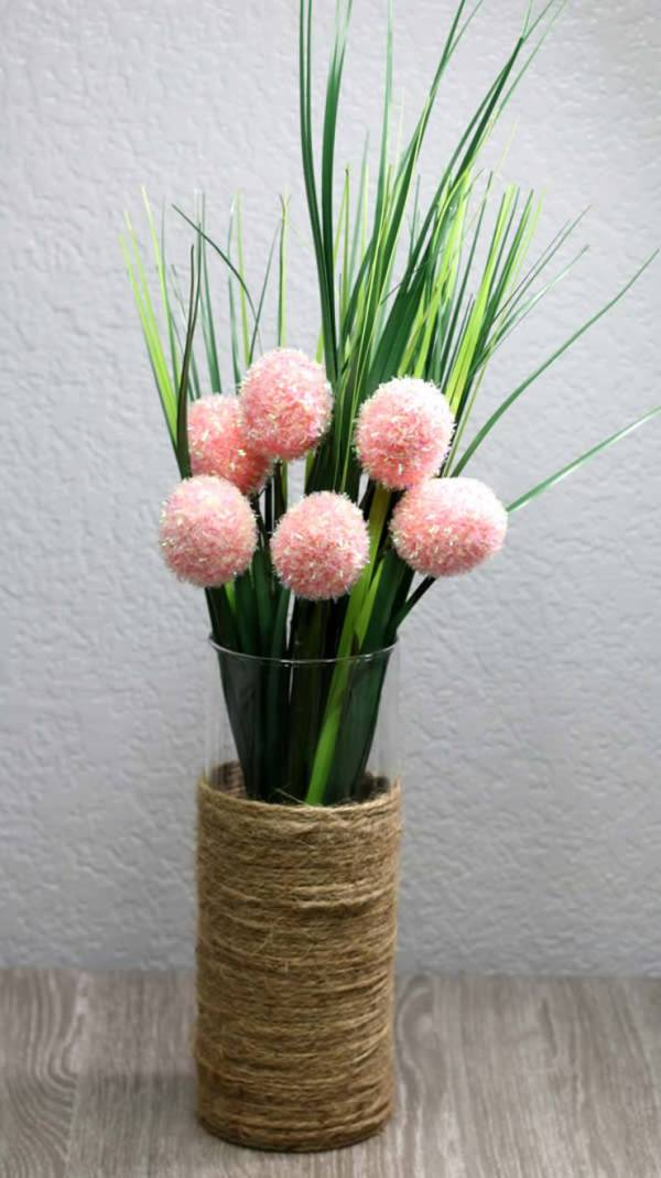 Dollar Store Spring Decor - Easy DIY Crafts - How To Make Spring Flower Arrangement - Simple Decor Ideas For The Home - Dollar Tree Hacks