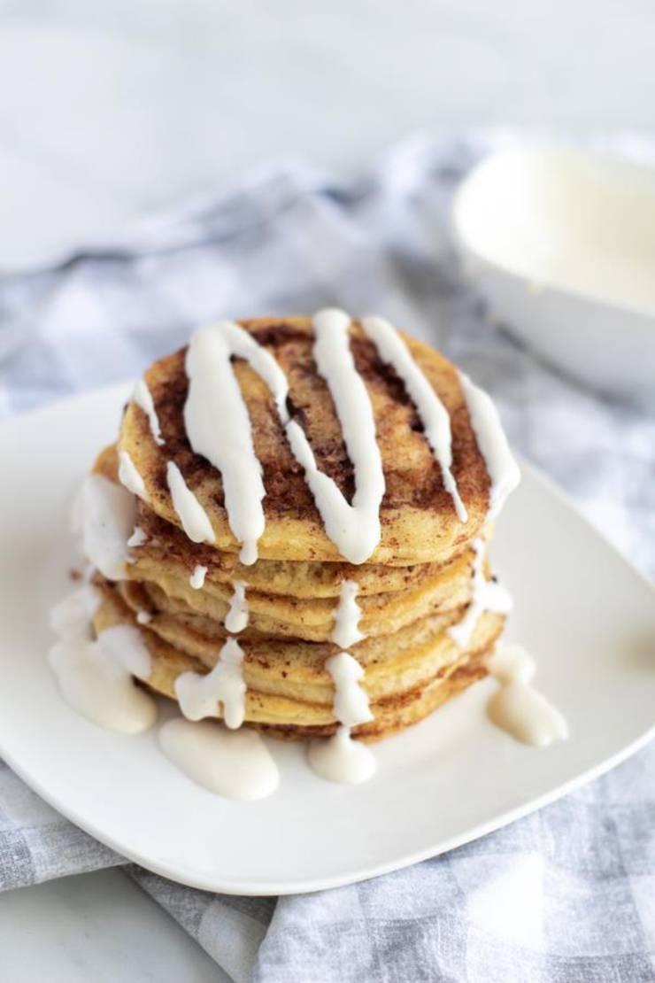 Keto Cinnamon Roll Pancake