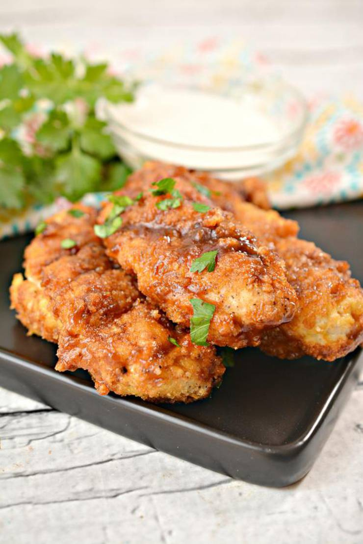 Keto Chicken Tenders - EASY Low Carb Air Fried BBQ Brown ...