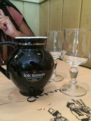 Anywhere you eat in Paris, water will be served in a fancy bottle. And you will drink from wine glasses. So classy!