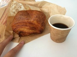 Blé Sucré is the best bakery that I have found so far in Paris. It's pretty highly rated on Yelp and it's a popular tourist spot in my district for very obvious reasons! This pain au chocolat (chocolate croissant) is super flaky and tasty and perfect. Filled with nutella. Pair it with a coffee and it's MAGIC!