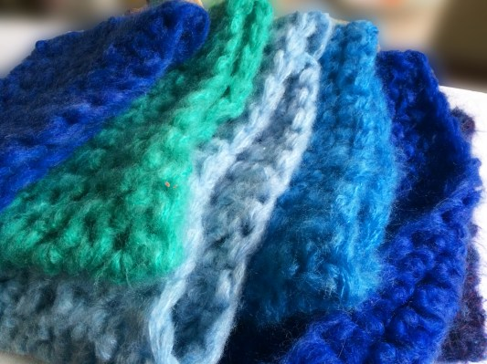 Cowls in blue