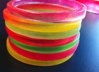 Set of neon bangles