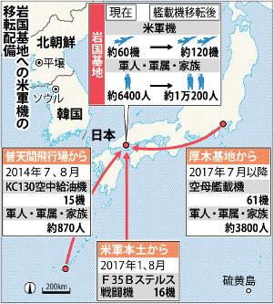 이와쿠니기지 이와쿠니 주일미군 전투기와 공중급유기 충돌사고로 추락