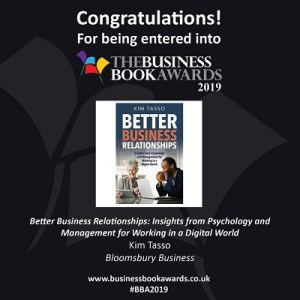 Better Business Relationships has been entered into the Business Book Awards