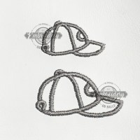 Ball Cap Outline Embroidery Design