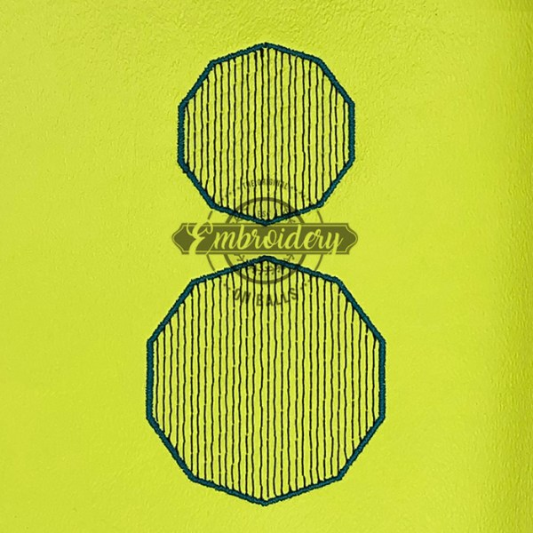 Decagon Sketchy Baseball Softball Embroidery Design