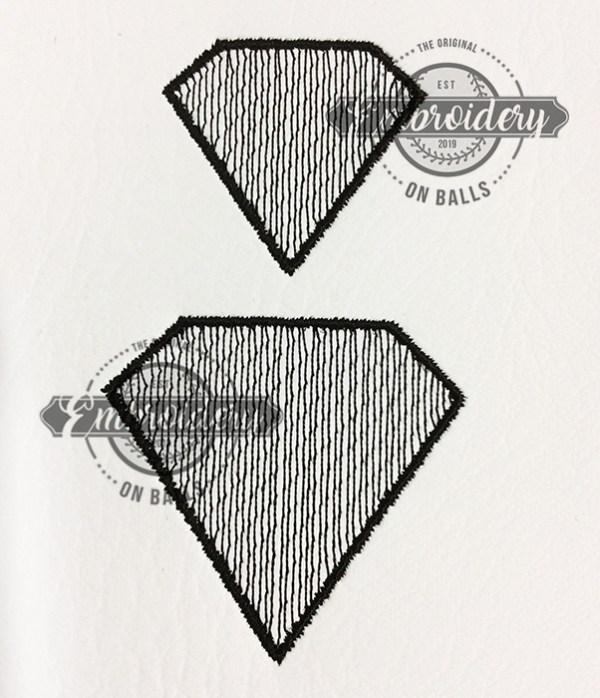Sketchy Diamond Embroidery Design