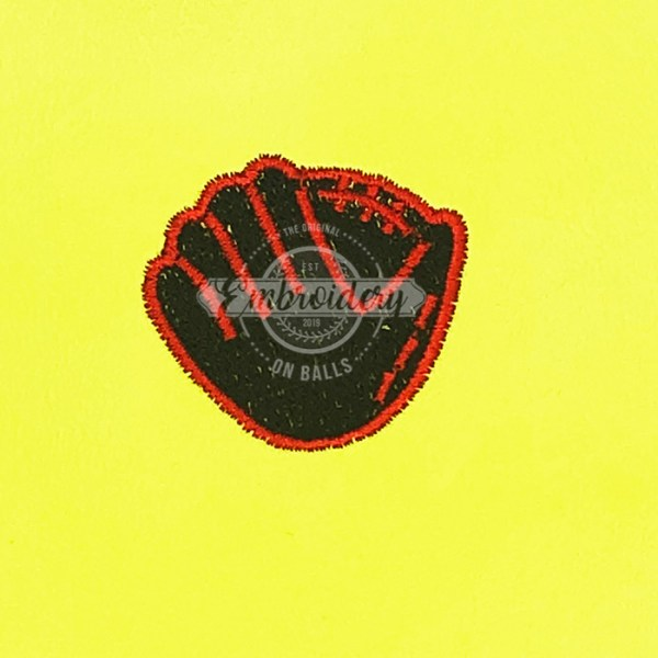 Ball Glove Filled Embroidery Design