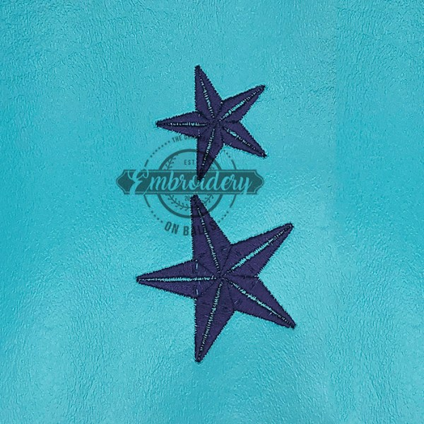 Star Dollar Filled Embroidery Design