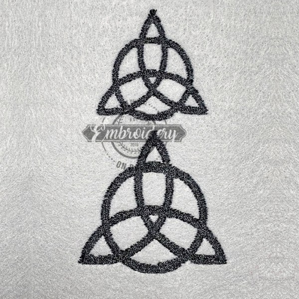 Celtic Triquetra Filled Embroidery Design