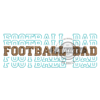 Breakout Football Dad - Embroidery Design