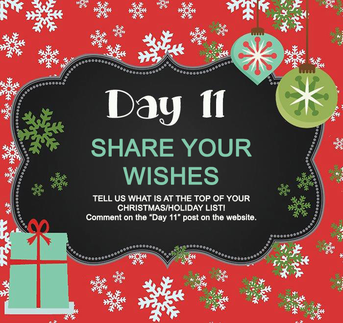 Day 11 GIVEAWAY – What's on your Christmas/Holiday List?