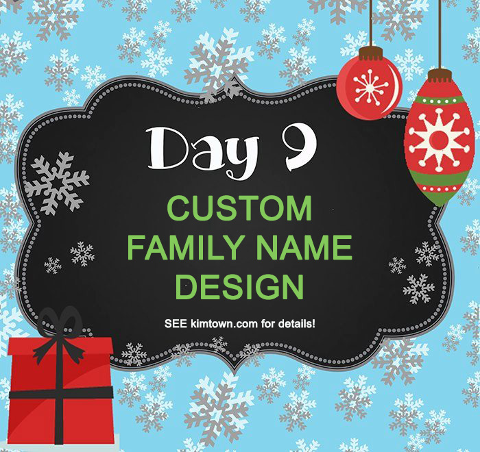 Day 9 – Custom Family Embroidery Giveaway