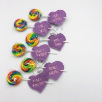 Gender Pronoun Conversation Hearts Set 1