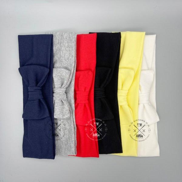Knit Bow Headbands Stretchy