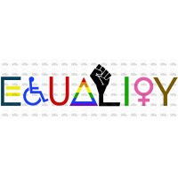 Equality Graphic Black Lives Matter Disable Ability Pride LGBTQIA Women BIPOC Marriage