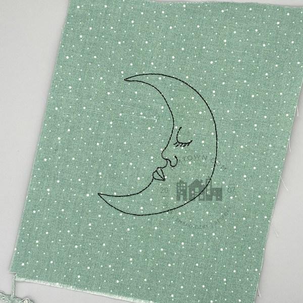 Sleepy Moon Machine Embroidery Design