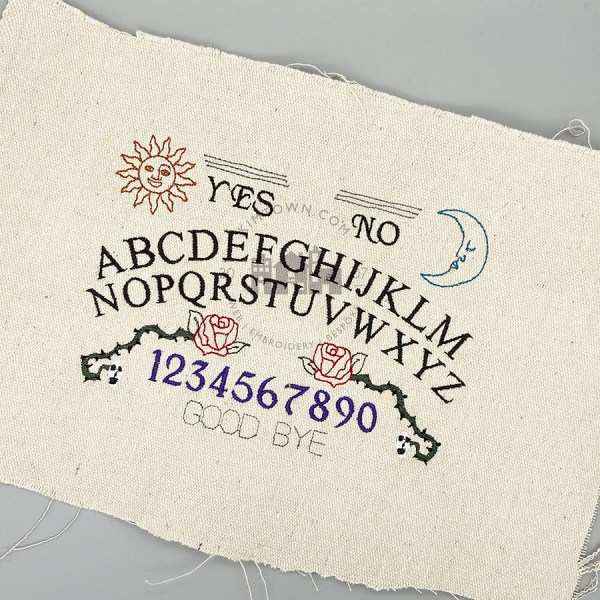 Spirit Board Ouija Inspired Design - Machine Embroidery Design