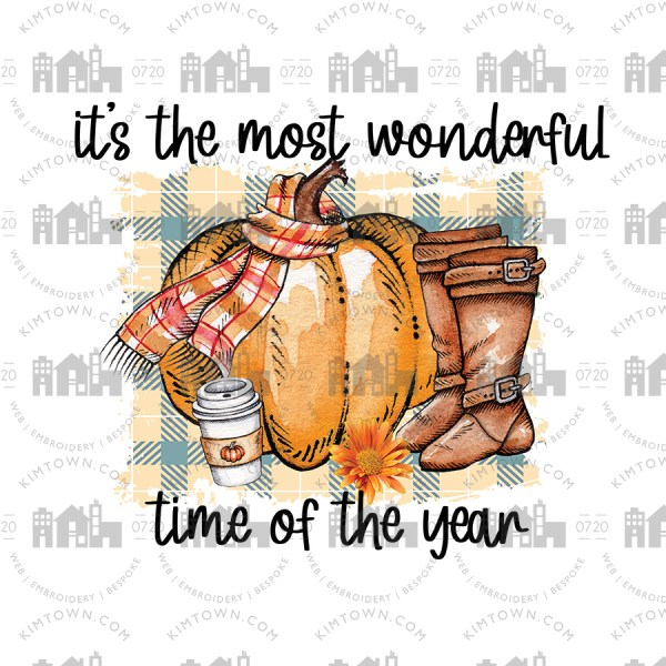 It's the Most Wonderful time of the Year Sublimation Print