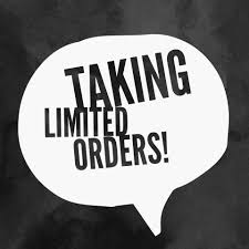 Limited Orders 2020 – Please Read