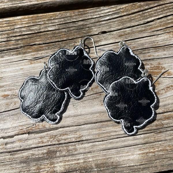 Shamrock Earrings In The Hoop Machine Embroidery Design