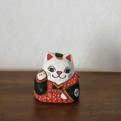 手招き福猫土鈴 Claybell of Beckon Fu cat