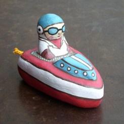 ボート乗り土鈴 Claybell of Boating