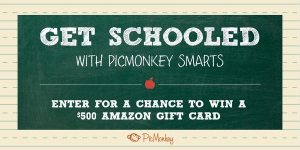 Enter to Win with your Back to School Inpisred Pinterest Board with Picmonkey